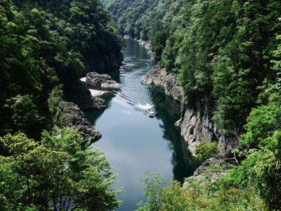 Dorokyo Gorge ※Picture is taken from Yamabiko bridge